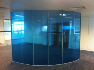 Transparent blue Office Divider